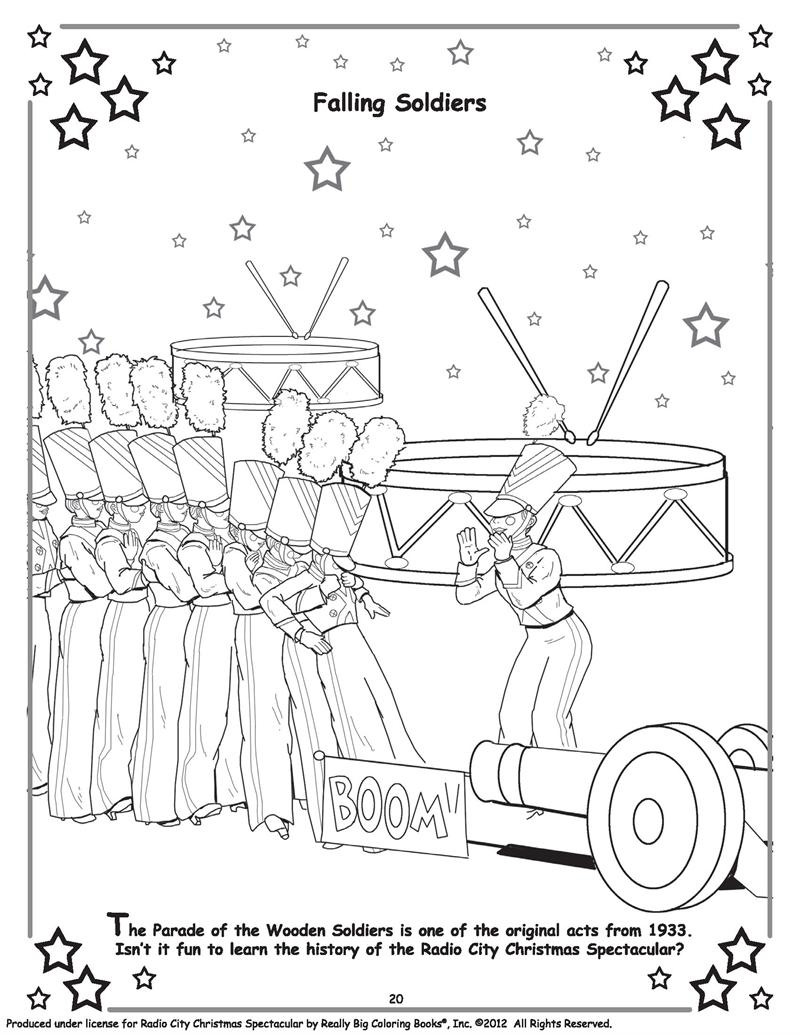 radio city rockettes coloring pages sketch coloring page