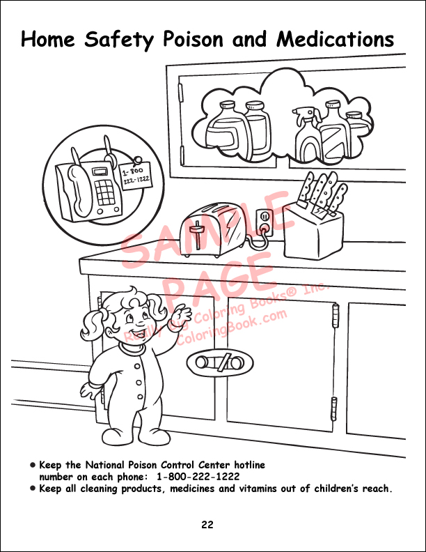 home safety coloring pages - photo #3